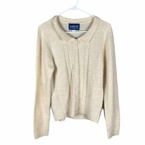 Modcloth x Collectif size 14 ivory cardigan